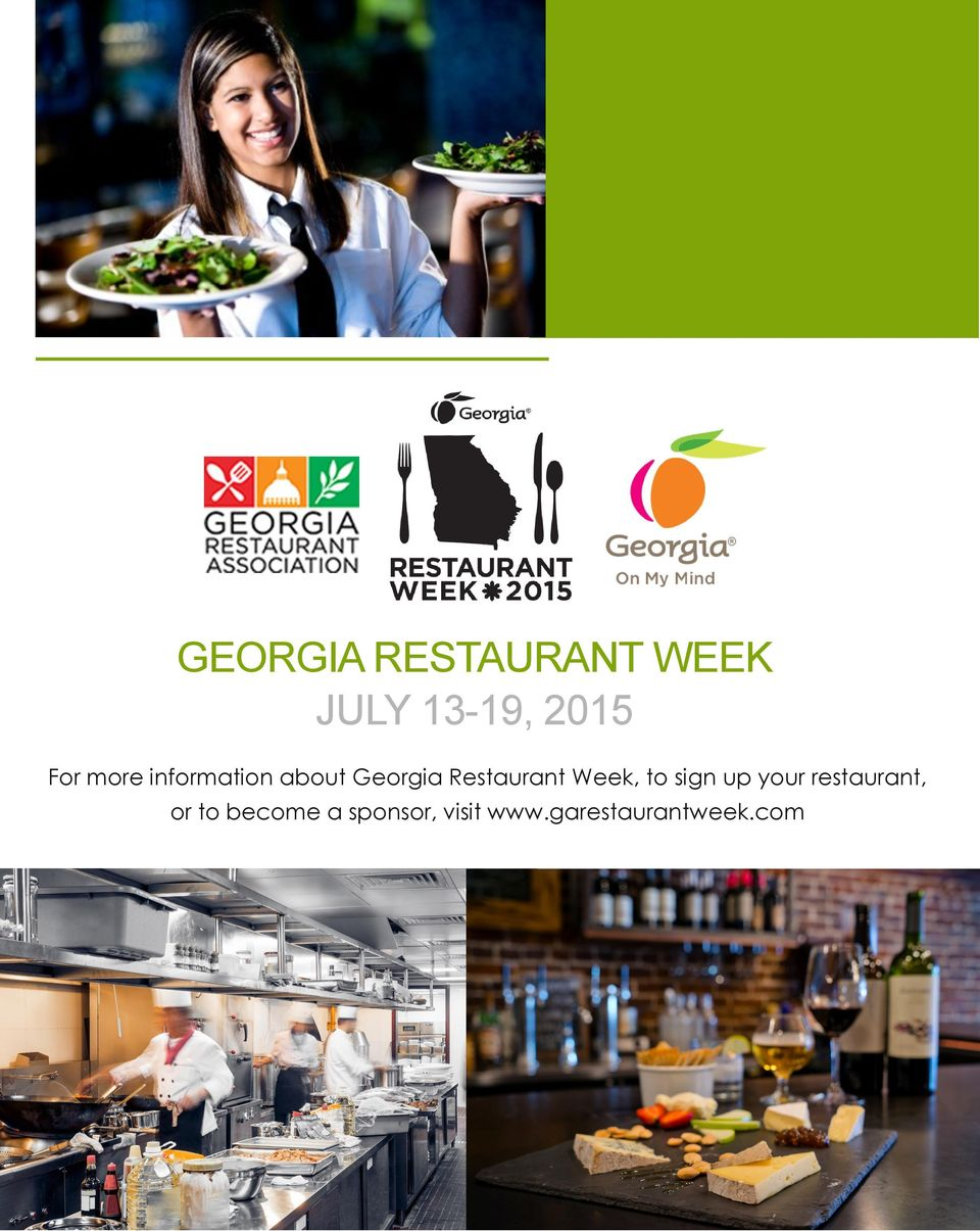 Restaurant Week, to sign up your