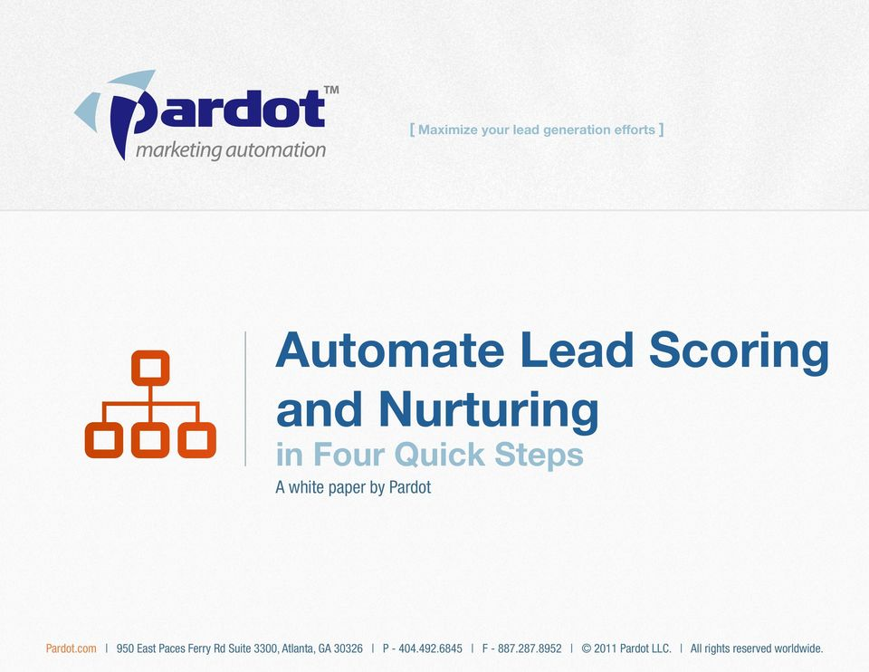 Lead Scoring and Nurturing in