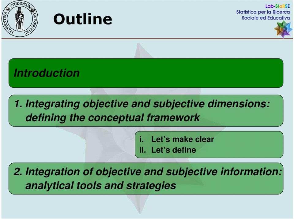the conceptual framework i. Let s make clear ii.