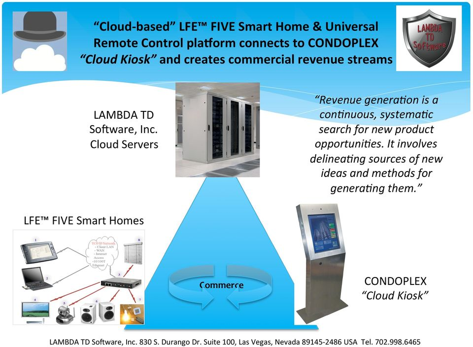 Cloud Servers Revenue genera4on is a con4nuous, systema4c search for new product opportuni4es.