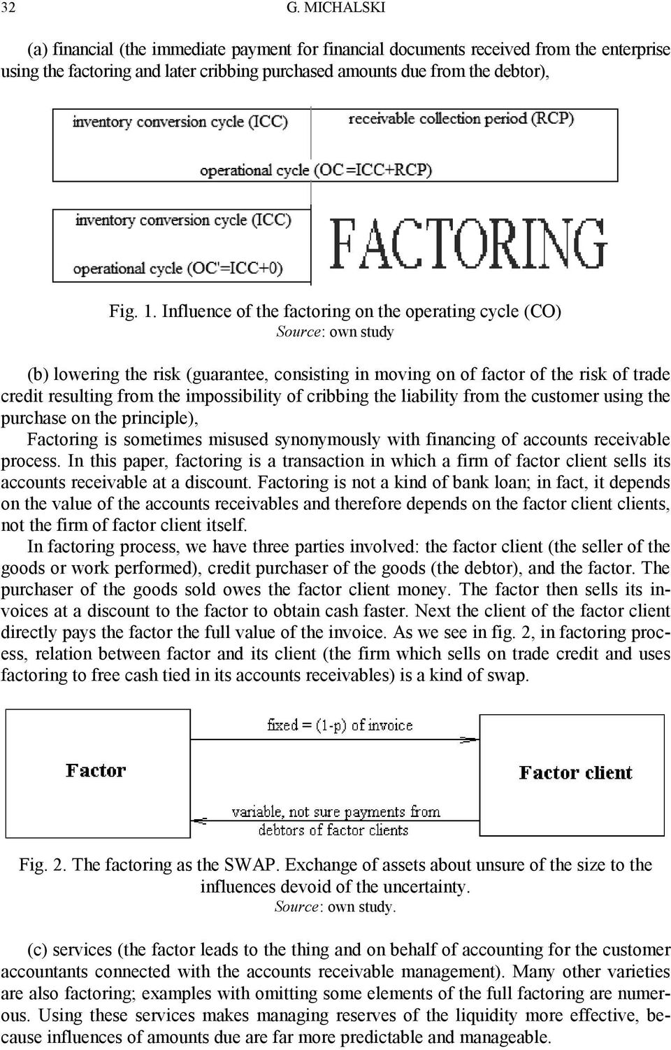 impossibility of cribbing the liability from the customer using the purchase on the principle), Factoring is sometimes misused synonymously with financing of accounts receivable process.