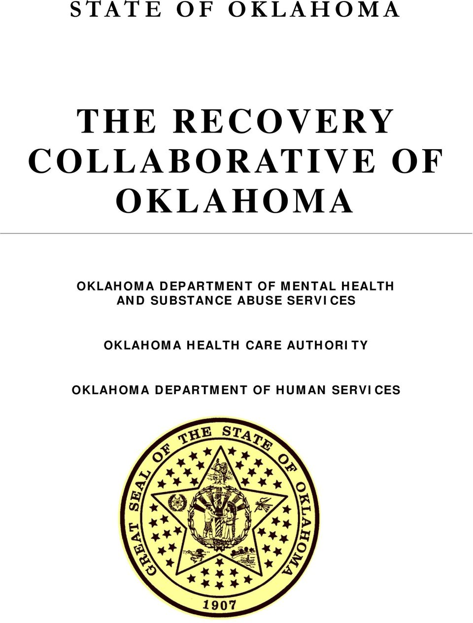 AND SUBSTANCE ABUSE SERVICES OKLAHOMA HEALTH