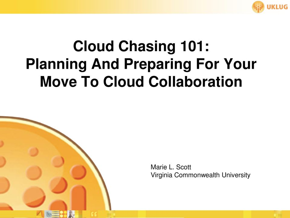 Cloud Collaboration Marie L.