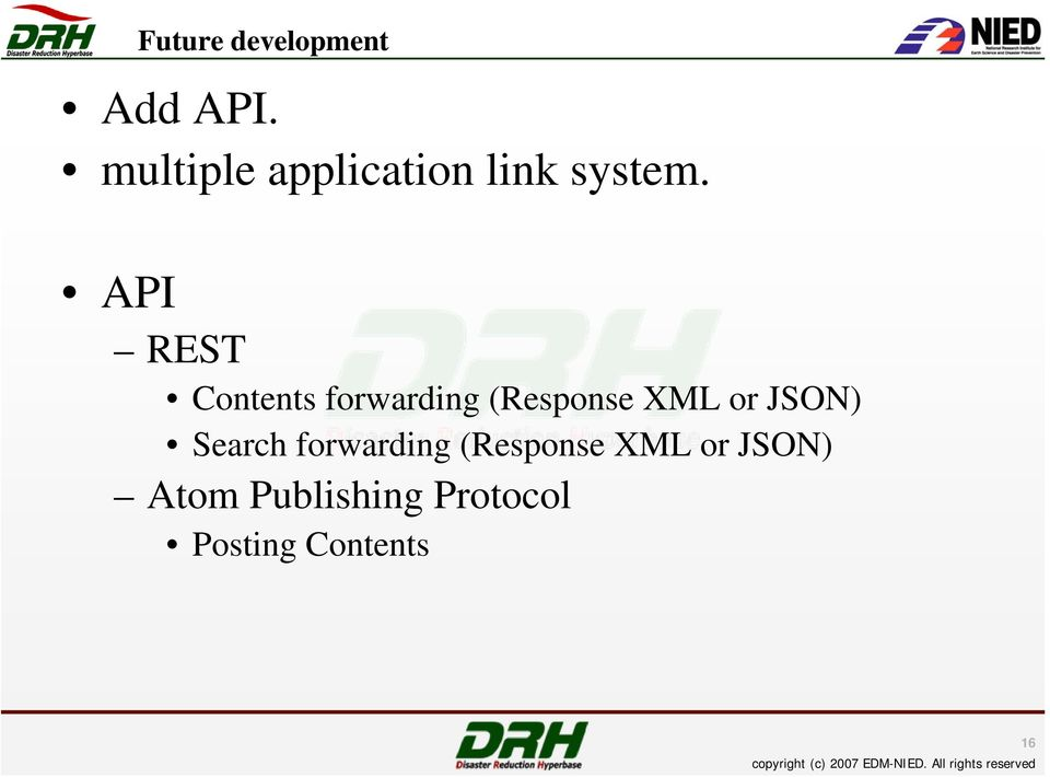 API REST Contents forwarding (Response XML or