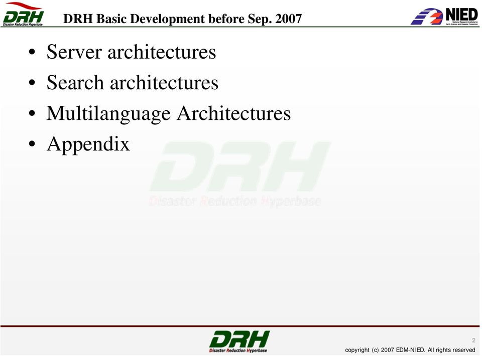 architectures Search