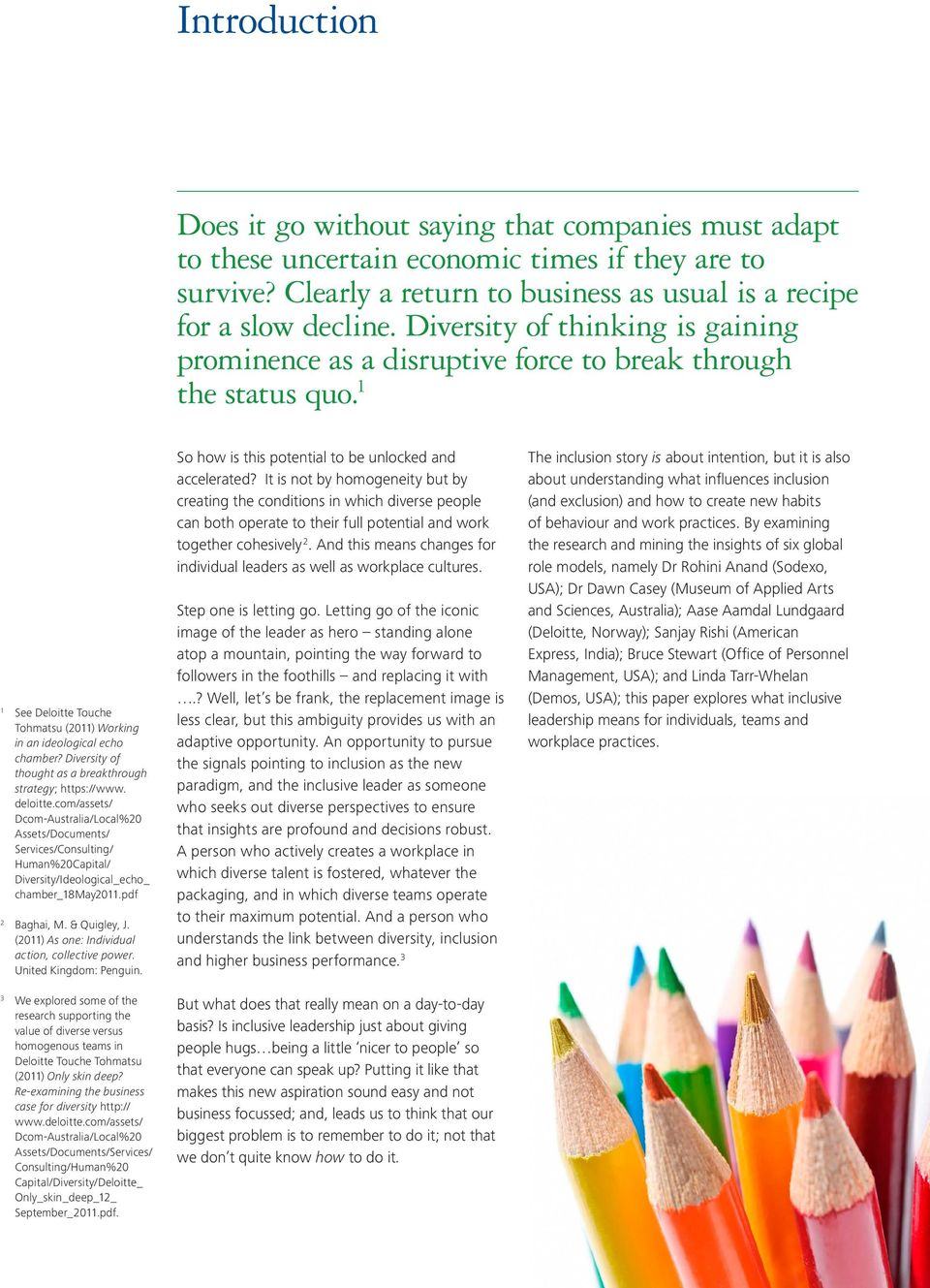 Diversity of thought as a breakthrough strategy; https://www. deloitte.