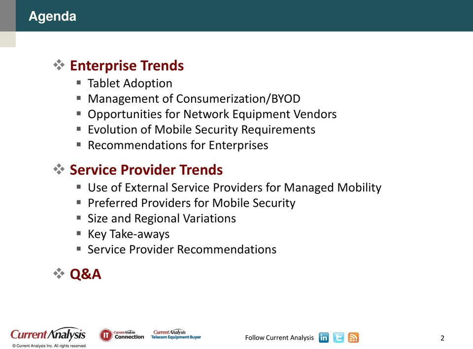 Enterprises Service Provider Trends Use of External Service Providers for Managed Mobility