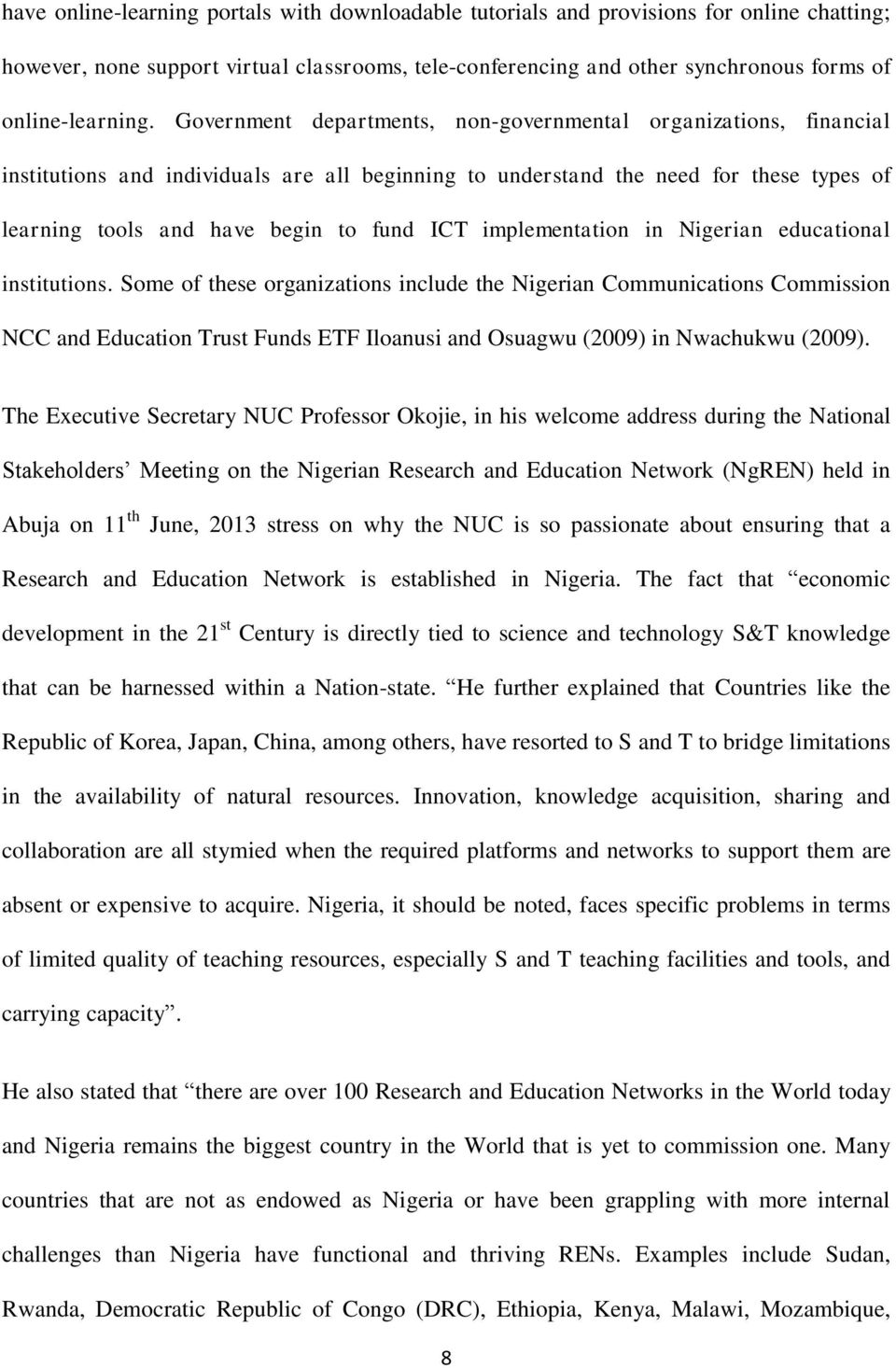 implementation in Nigerian educational institutions.