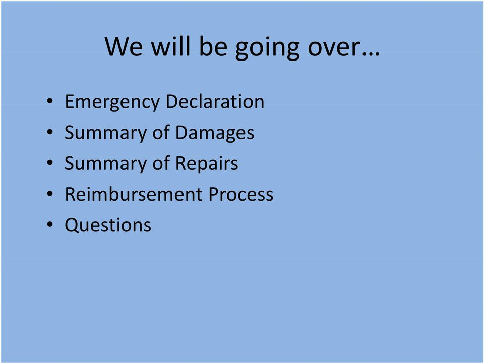 Summary of Damages Summary