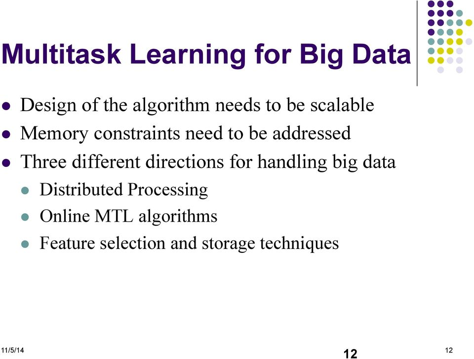 different directions for handling big data Distributed