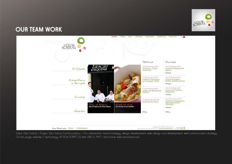 development, web communication strategy On this page: website