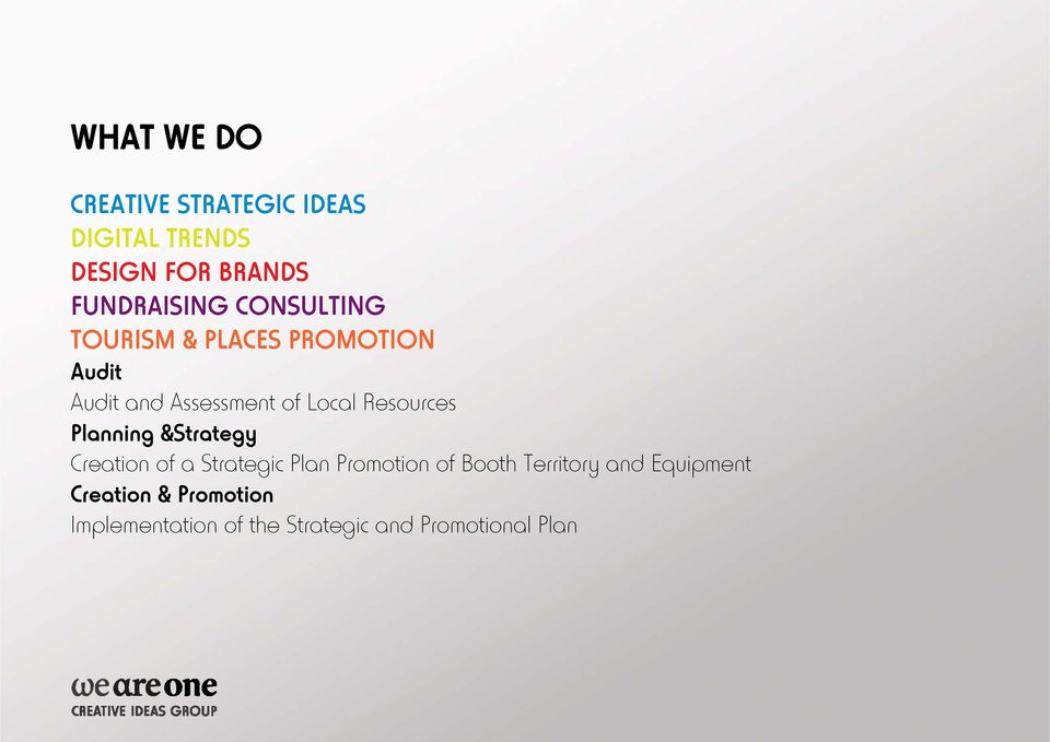 Resources Planning &Strategy Creation of a Strategic Plan Promotion of Booth