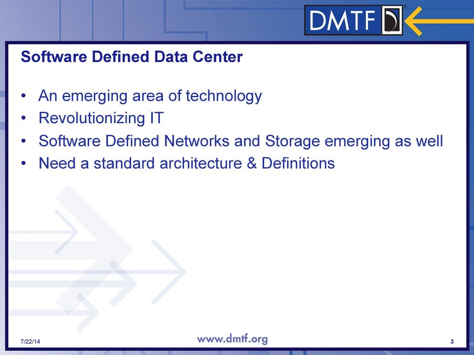 Defined Networks and Storage emerging as well