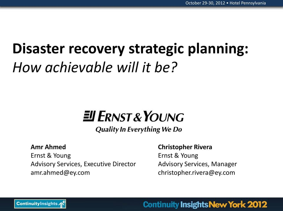 Amr Ahmed Ernst & Young Advisory Services, Executive