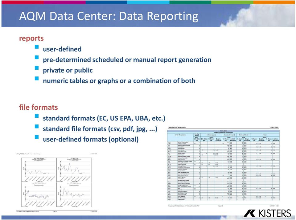 graphs or a combination of both file formats standard formats (EC, US EPA,