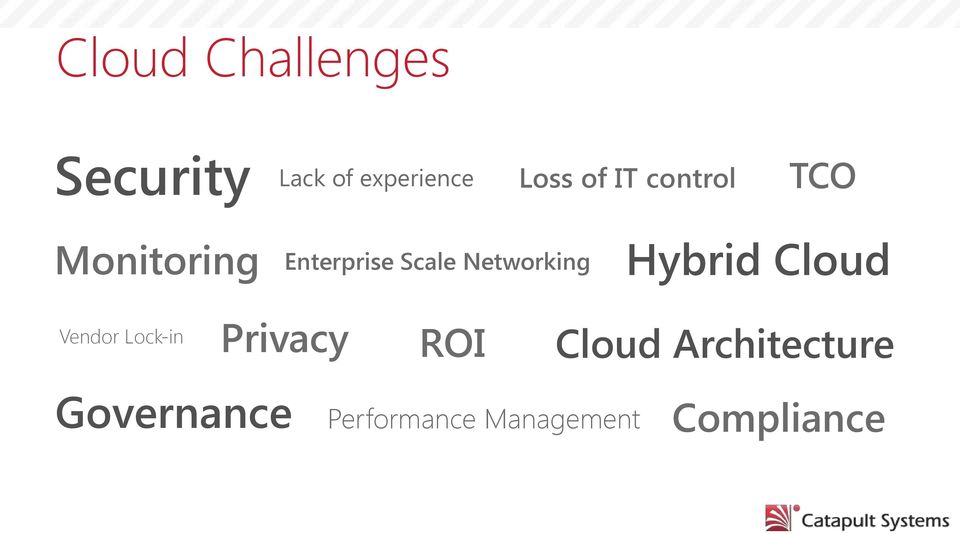 Networking Hybrid Cloud Vendor Lock-in Privacy ROI