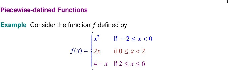 function f defined by x if