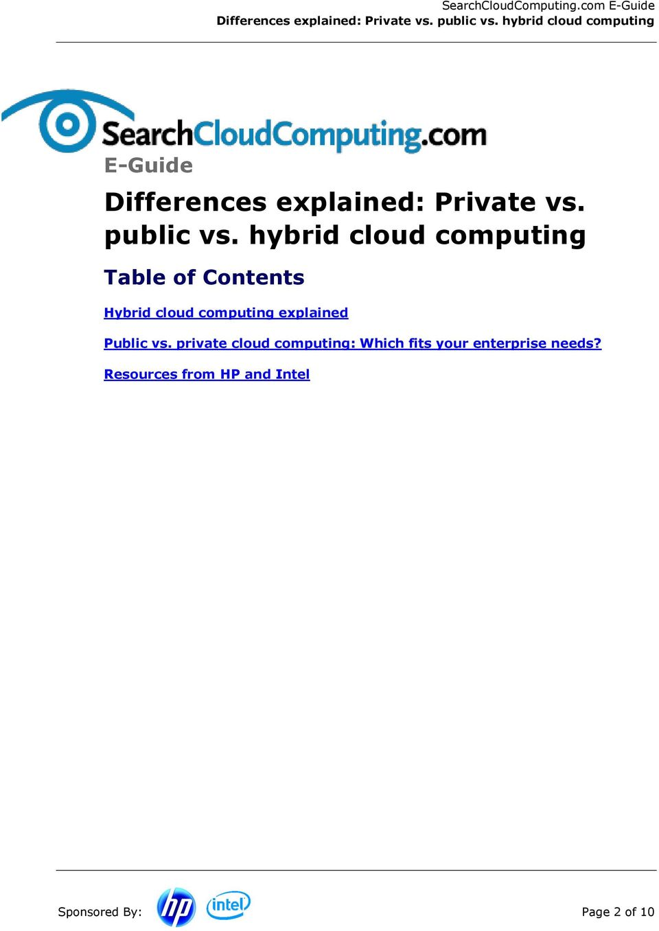 computing explained Public vs.