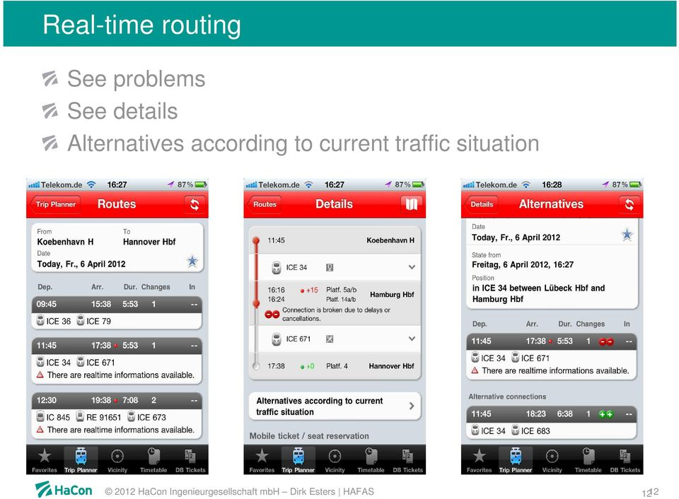 current traffic situation 2012 HaCon