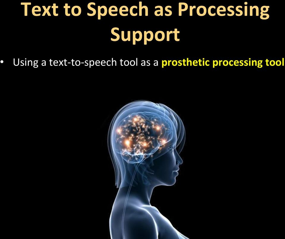 Using a text-to-speech