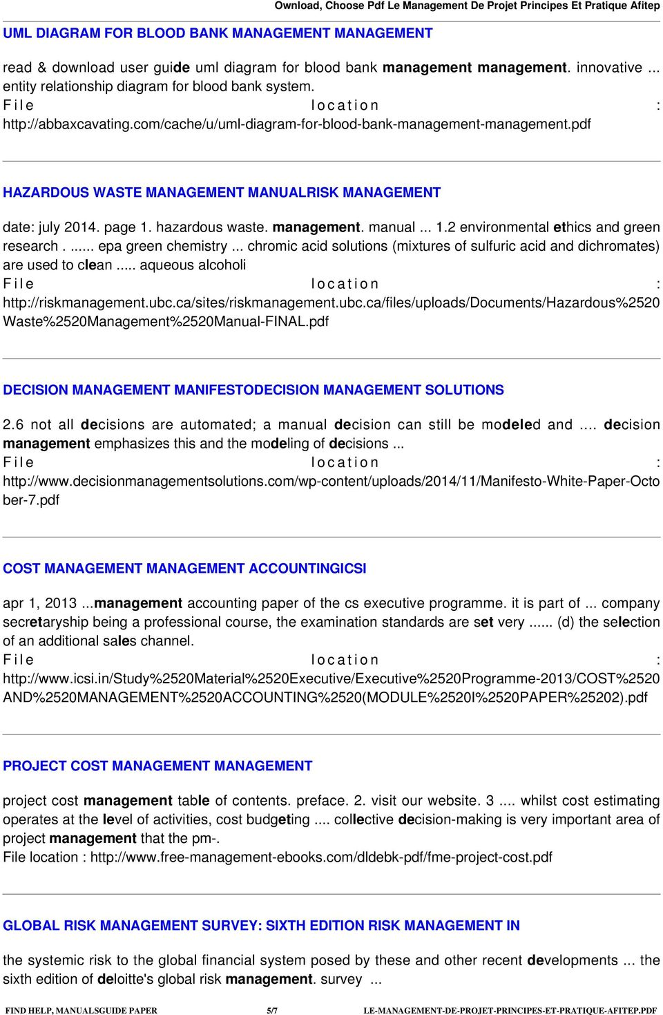 pdf HAZARDOUS WASTE MANAGEMENT MANUALRISK MANAGEMENT date: july 2014. page 1. hazardous waste. management. manual... 1.2 environmental ethics and green research.... epa green chemistry.