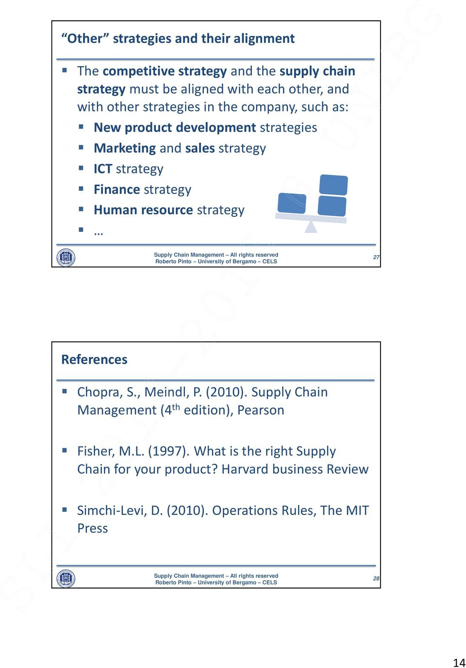 strategy Human resource strategy 27 References Chopra, S., Meindl, P. (2010).