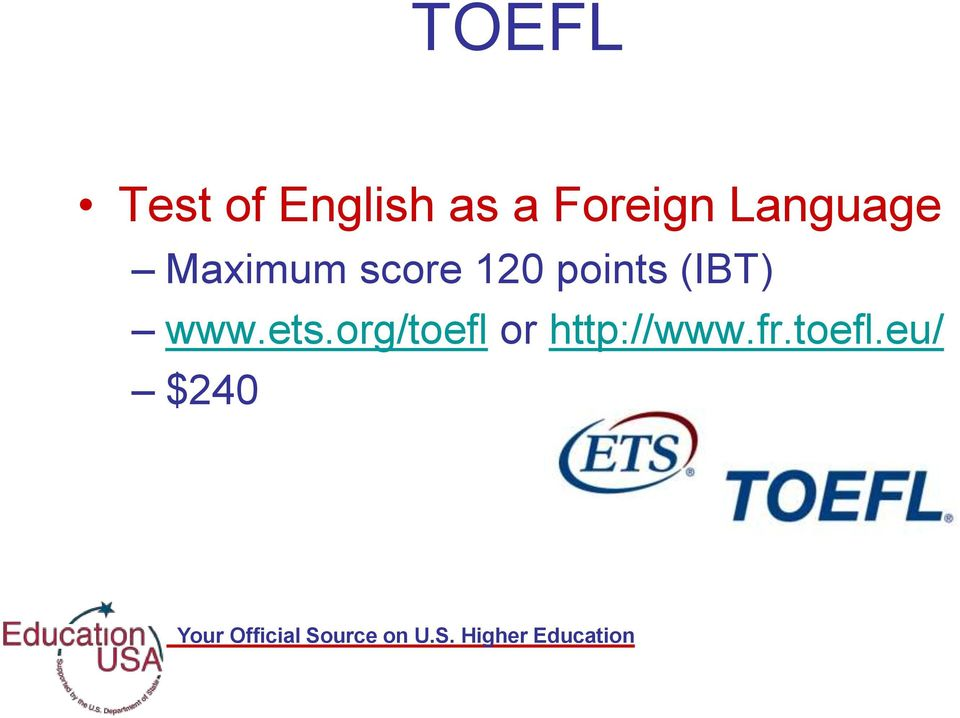120 points (IBT) www.ets.