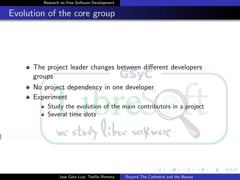 dependency in one developer Experiment Study the
