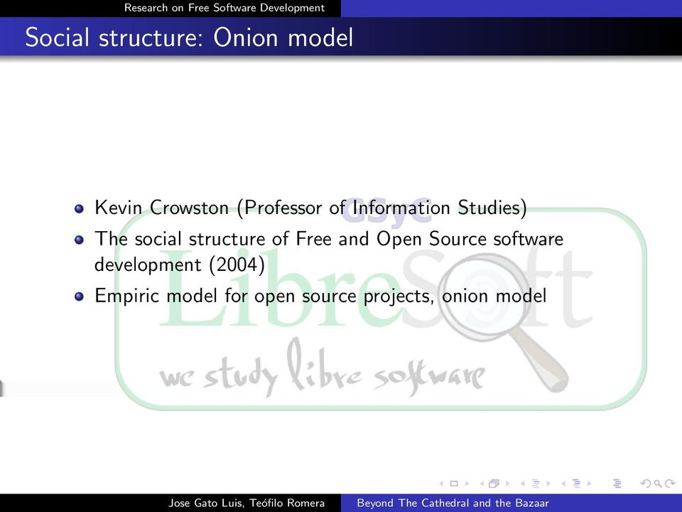 structure of Free and Open Source software
