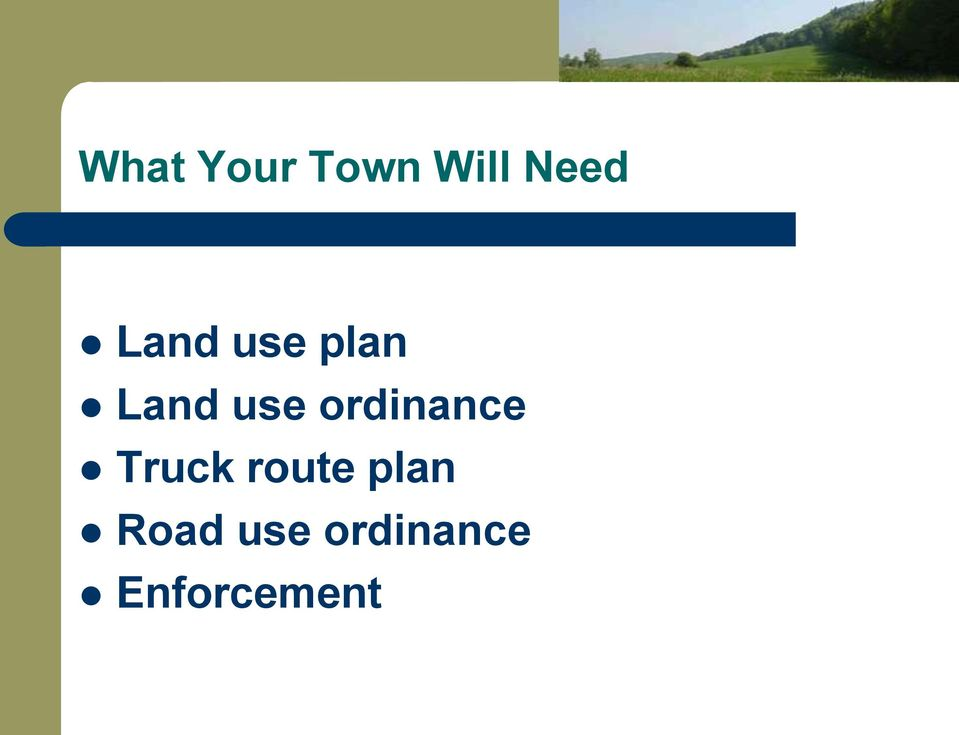 ordinance Truck route plan