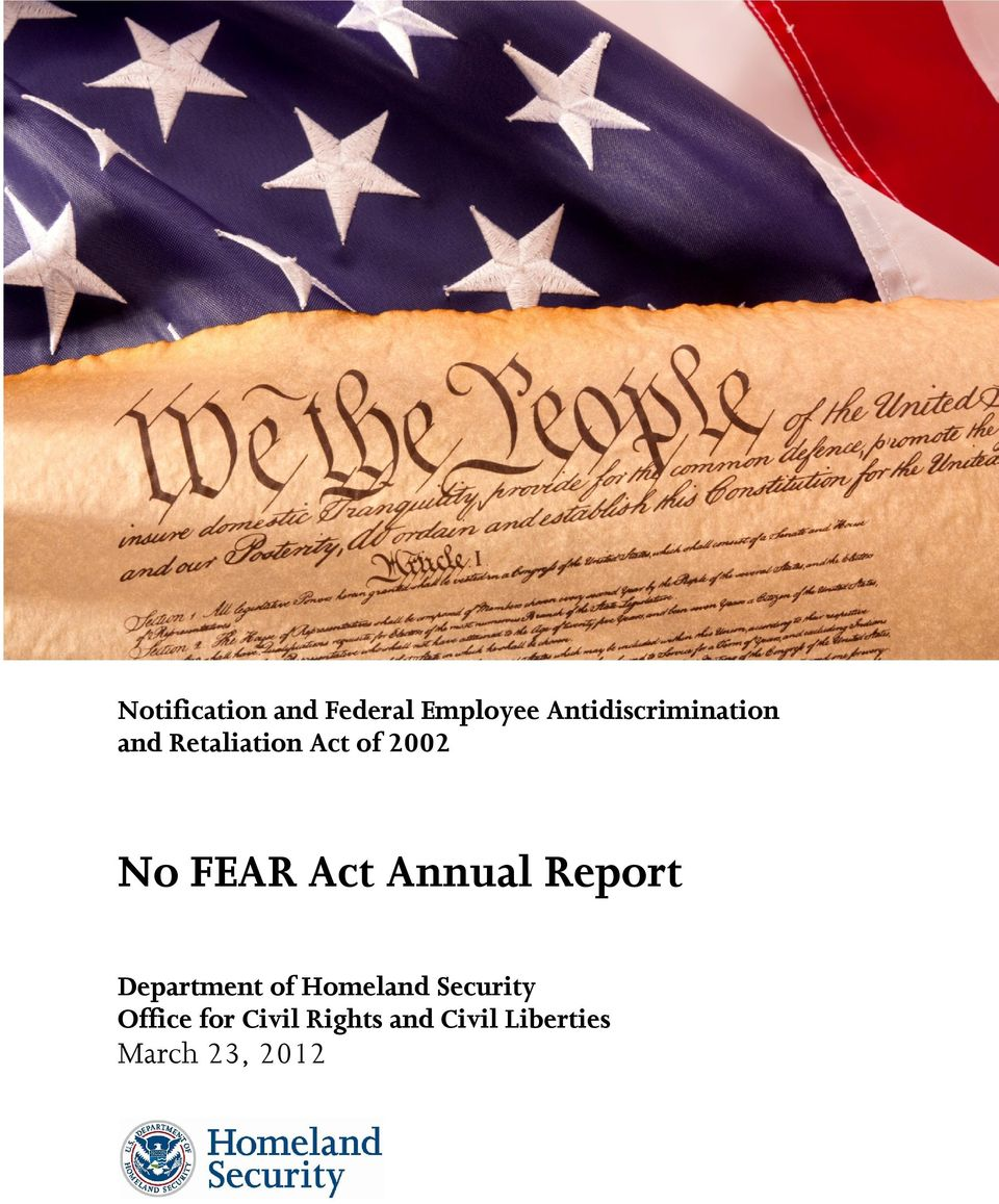 FEAR Act Annual Report Department of Homeland