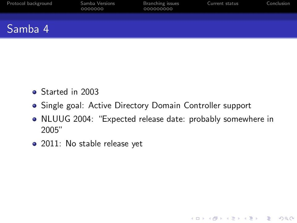 NLUUG 2004: Expected release date: