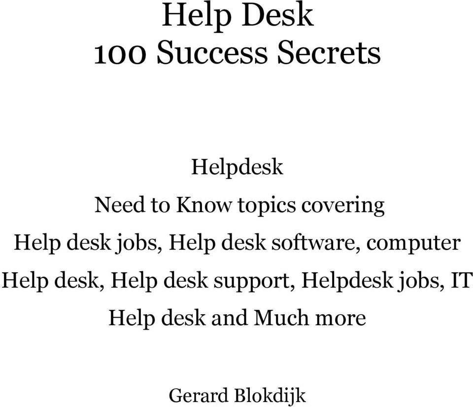 software, computer Help desk, Help desk support,