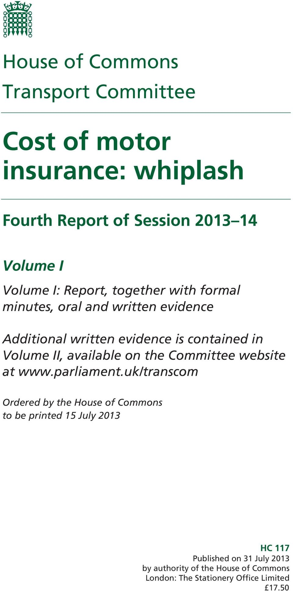 II, available on the Committee website at www.parliament.