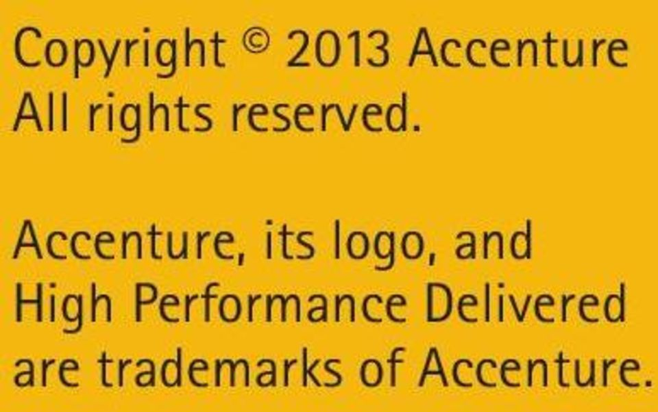 Accenture, its logo, and High