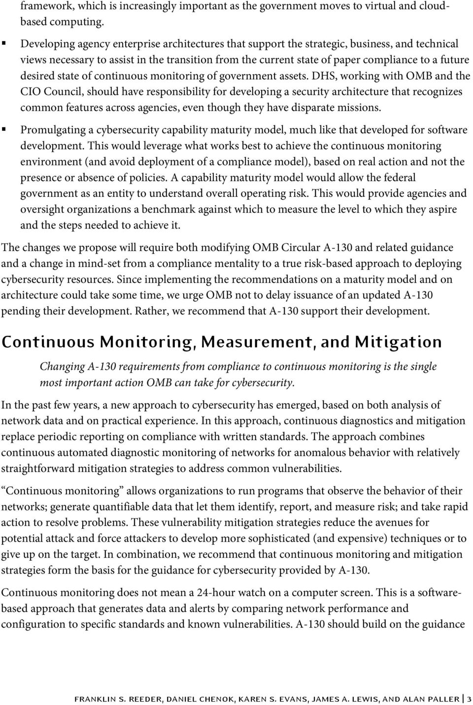 desired state of continuous monitoring of government assets.