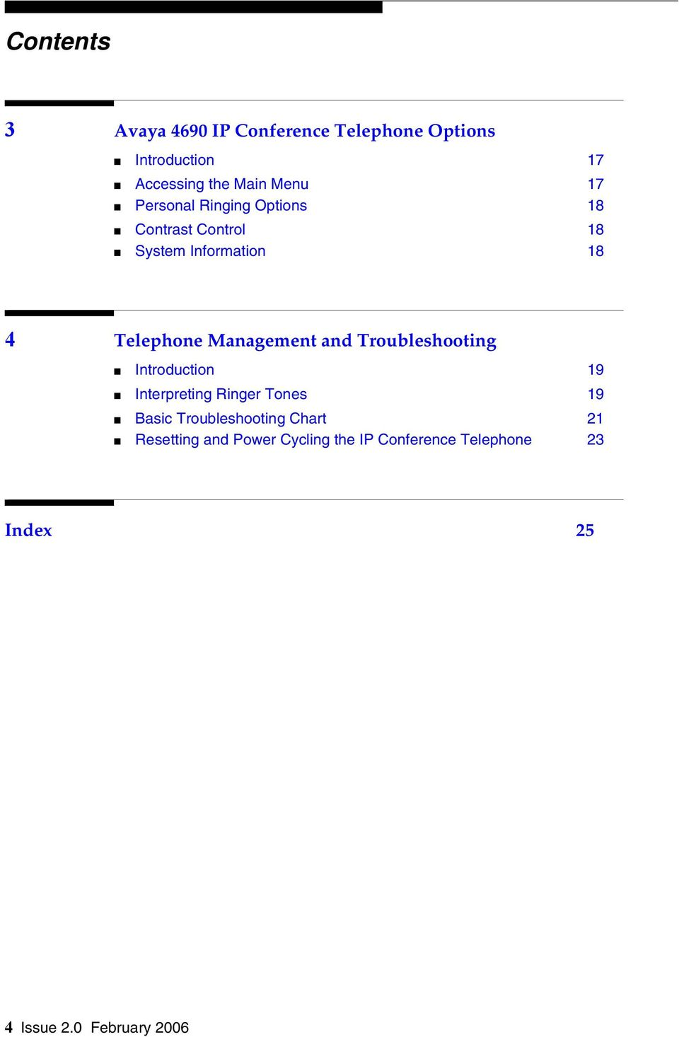 Management and Troubleshooting Introduction 19 Interpreting Ringer Tones 19 Basic