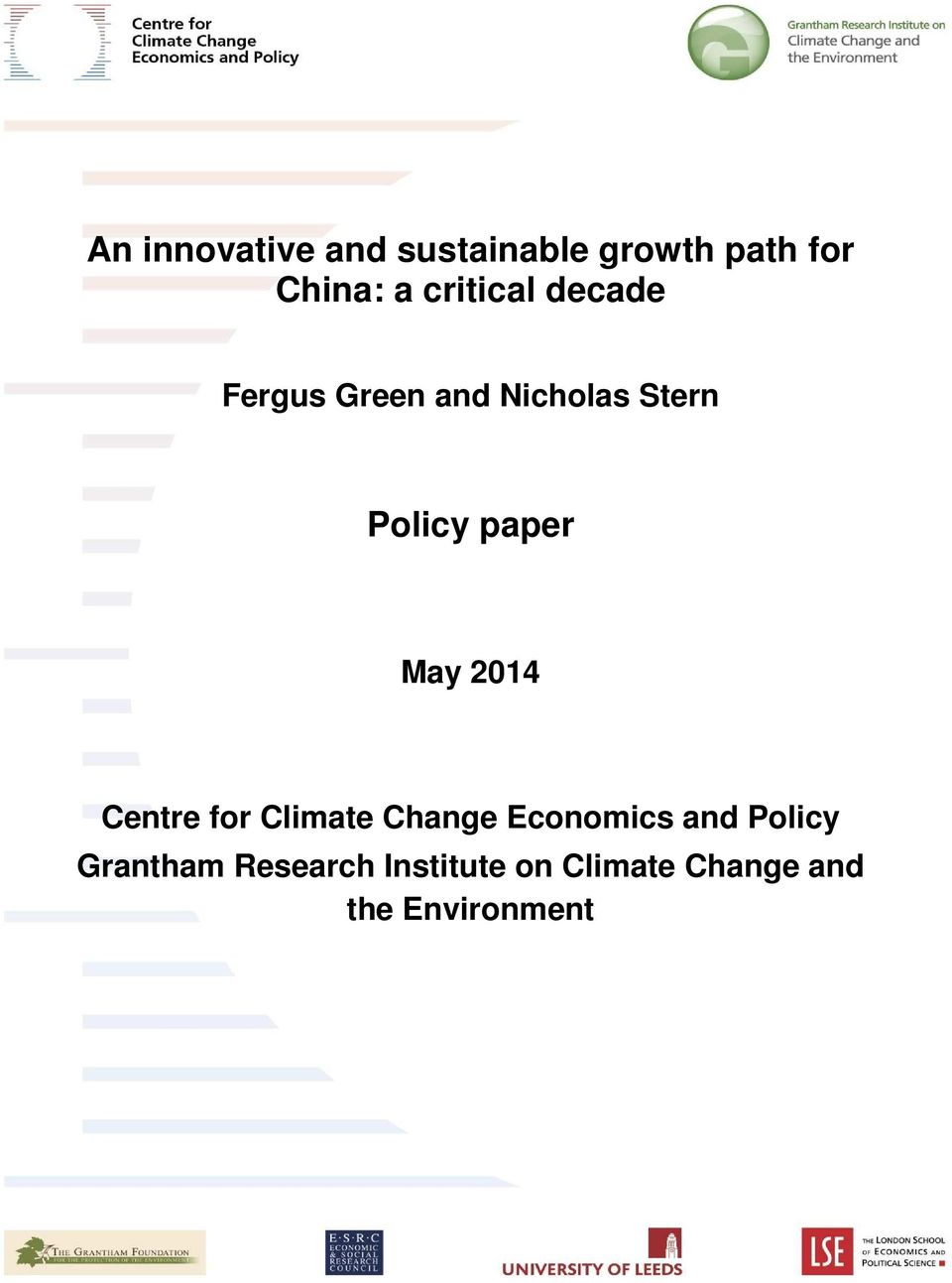 paper May 2014 Centre for Climate Change Economics and