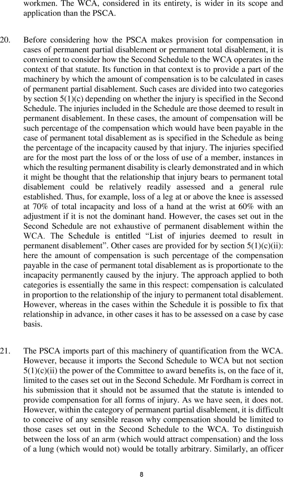 WCA operates in the context of that statute.
