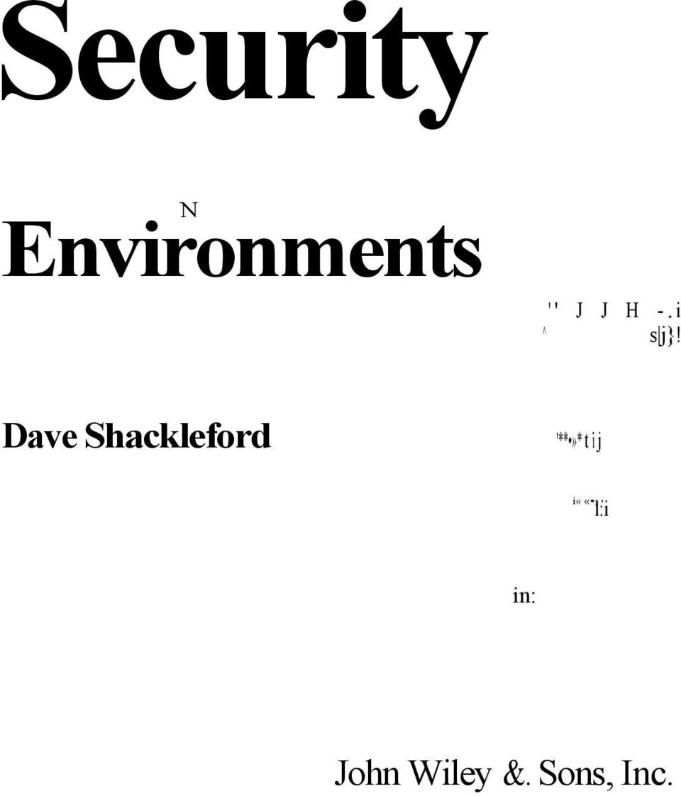 Dave Shackleford '**»* t i
