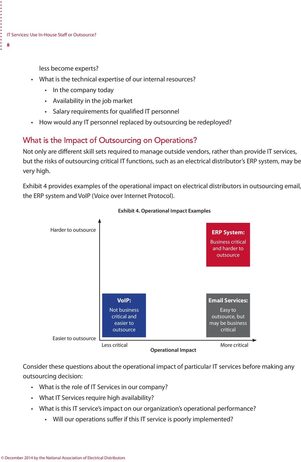 What is the Impact of Outsourcing on Operations?
