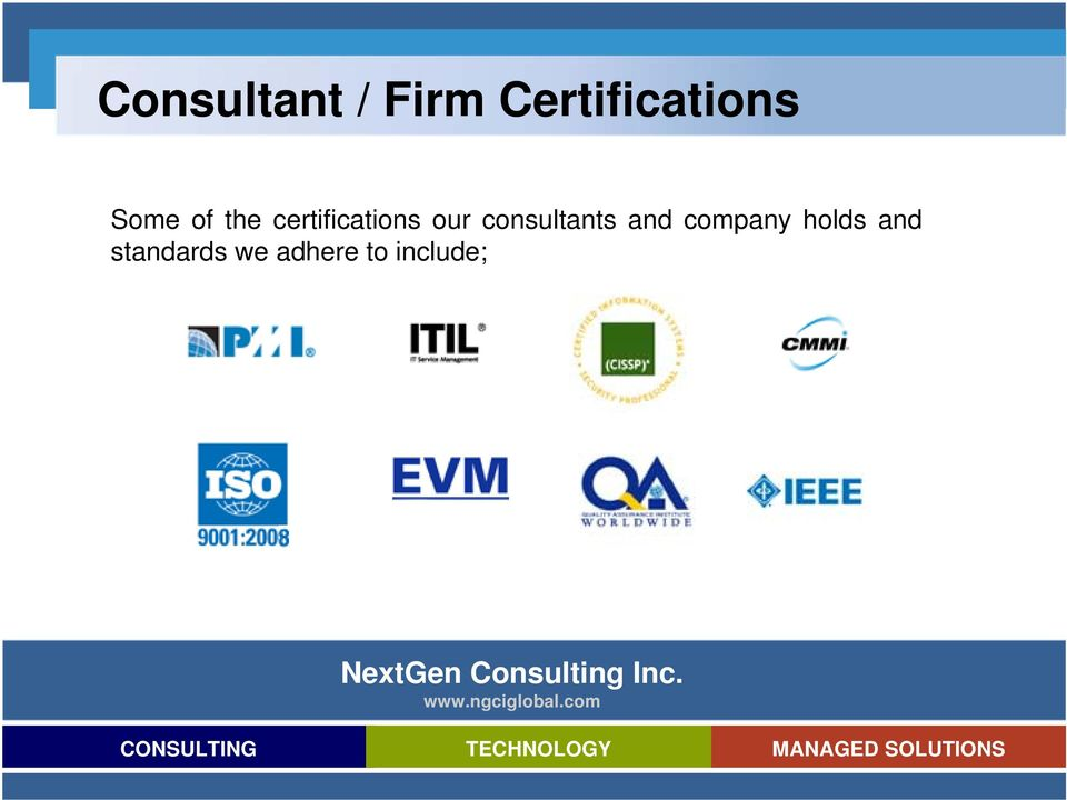 consultants and company holds