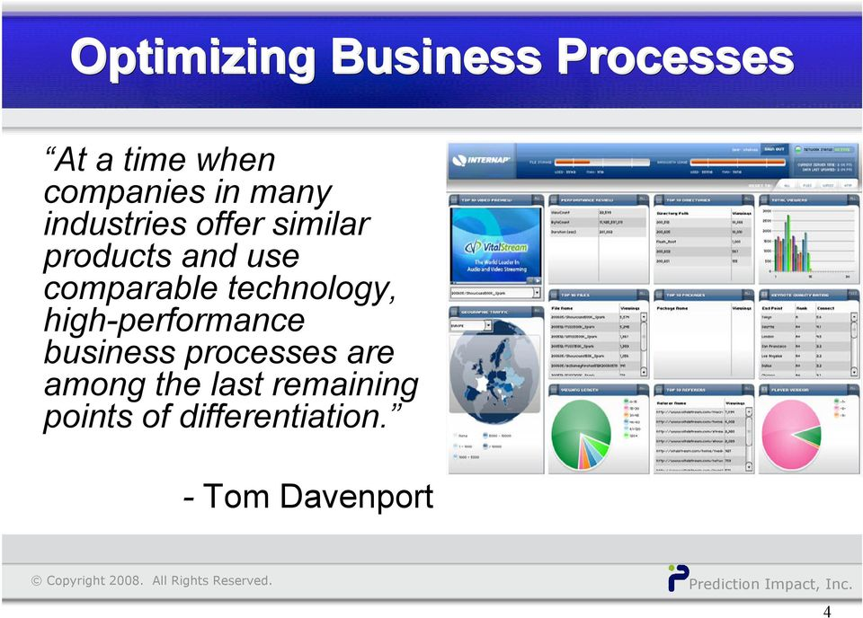 technology, high-performance business processes are among
