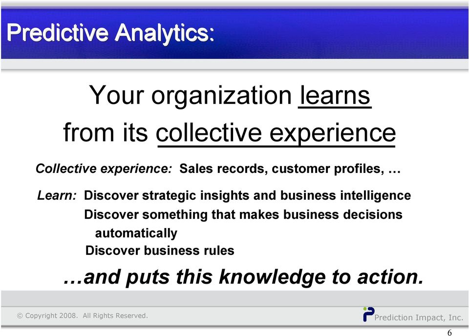 strategic insights and business intelligence Discover something that makes