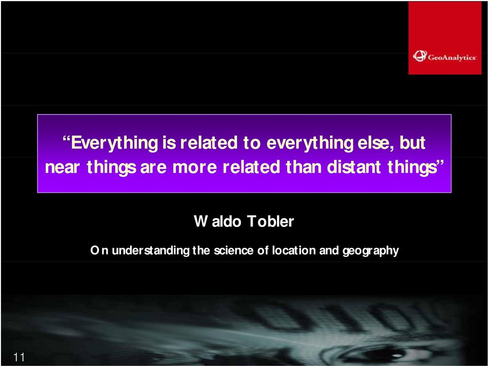 distant things Waldo Tobler On