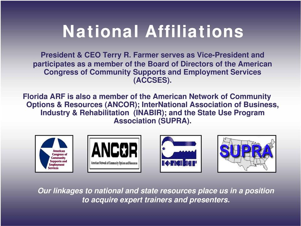 and Employment Services (ACCSES).