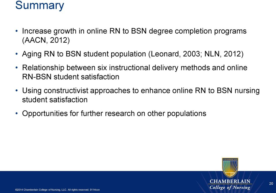 delivery methods and online RN-BSN student satisfaction Using constructivist approaches to
