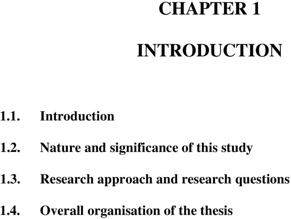 3. Research approach and research