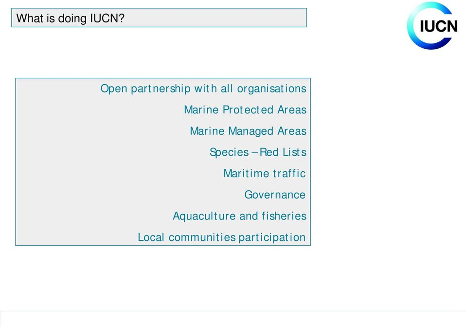 Protected Areas Marine Managed Areas Species Red