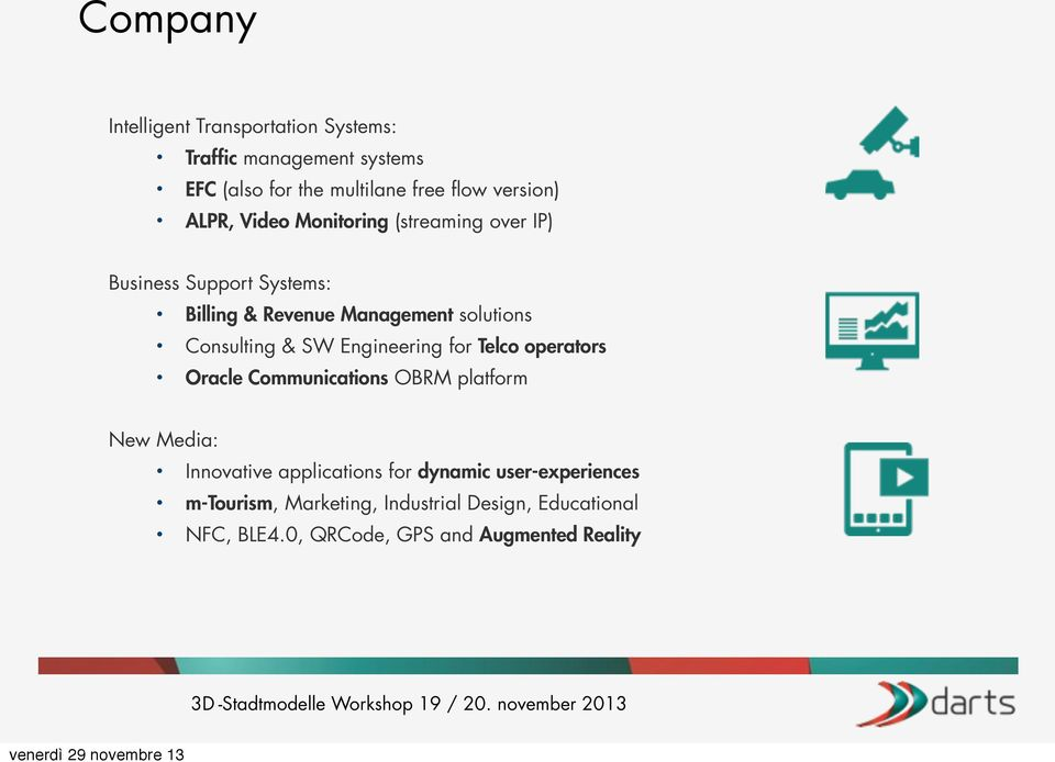 & SW Engineering for Telco operators Oracle Communications OBRM platform New Media: Innovative applications for